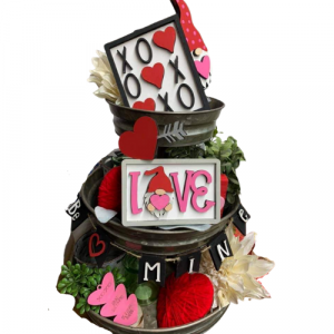 Valentines Gnome 3 Tier Set