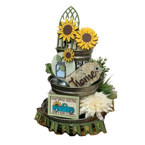 Sunflower Tiered Tray Set