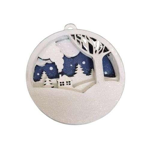 3D Snow Scene Ornament