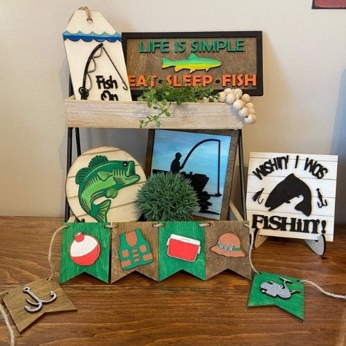Goin' Fishing Tiered Tray Set