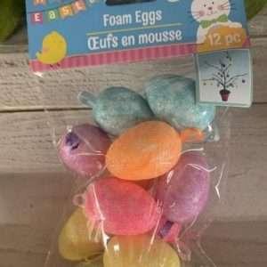 Foam Glitter Eggs