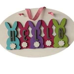 Bunny Hello Sign