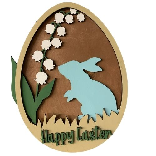 Happy Easter Layered Egg