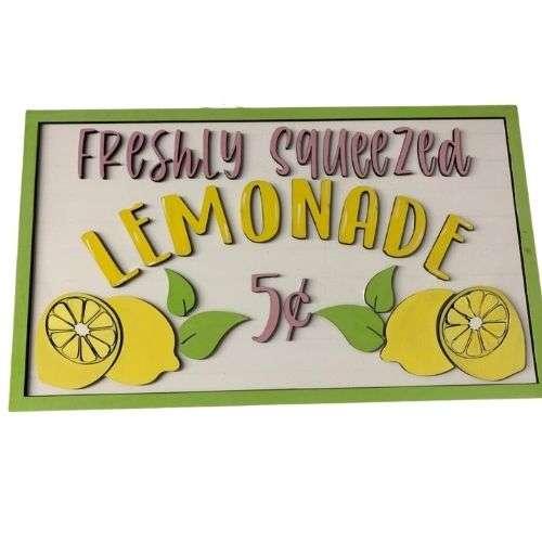 Freshly Squeezed Lemonade Sign - Large