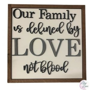 Our Family is Defined by Love not Blood