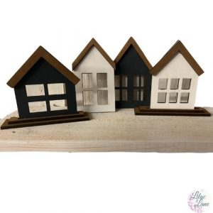 Tiered Tray Houses (Set of 4)