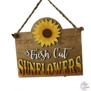 Fresh Cut Sunflowers Wall Hanger by Lilac Lane DIY