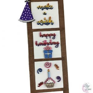 Happy Birthday Interchangeable Ladder Pieces