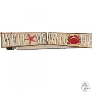 Beachy Welcome Sign by Lilac Lane DIY