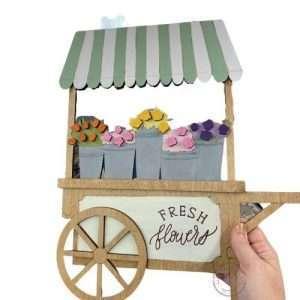 Flower Cart Sign